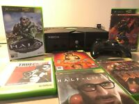 Original XBOX console with 6 games and 2 controllers