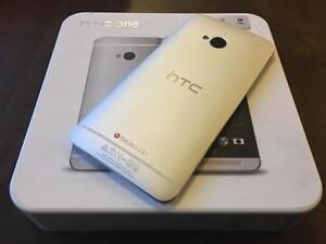 HTC ONE M7 32GB SILVER - UNLOCKED - 10/10 NEW - Guaranteed Activation + No Blacklist