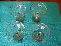BABYCHAM GLASSES.
