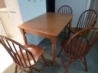 Dining Room table + four chairs