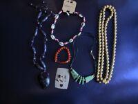 Costume Jewellery 4x Necklace - 1x Ear rings - 1x Bracelet