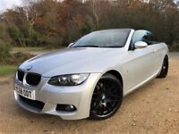 """2009 BMW 320d M Sport Convertible *Watch Video* New MOT and Warranty Included 19"""" Wheels Cruise PDC"""