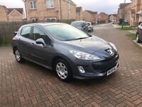 2010 PEUGEOT 308 1.6 HDI DIESEL, £30 TAX, MOT 12 MONTHS, FULL SERVICE HISTORY, HPI CLEAR
