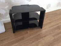 Black Glass TV Stand.