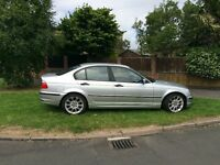 BMW 318i SILVER SALOON, PETROL, IMMACULATE CONDITION, MINT, LOW MILEAGE. 4 NEW TIRES, M3 ALLOYS.