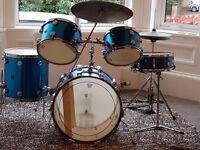 1970's vintage 5- piece Hayman Drum Kit w/Premier snare including original leather cases
