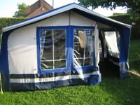 SUNCAMP HOLIDAY 400 SE TRAILER TENT WITH 2 PUP TENTS AND ACCESSORIES- 1ST TO SEE WILL BUY