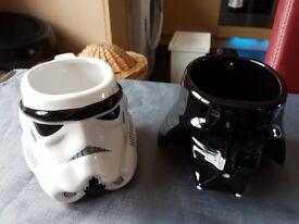 Star Wars Collectors mugs - Stormtrooper and Darth Vader