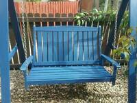 Wooden two seater swing seat