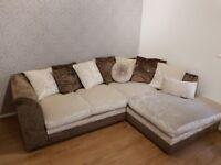 Sofa crushed velvet corner cheap