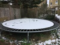 Trampoline - large outdoor (14ft) with net & supporting frame if you want it. Quality build.