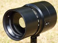 Nikon Bayonet mount 500mm f/8 mirror Reflector telephoto lens