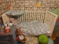 Baby Cot Toddler Cot Bed