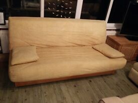Excellent condition double sofa bed with storage