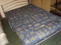 Metal Framed Sofa Bed Futon Sleeper