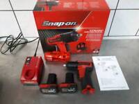SNAP ON 3/8 Cordless Impact Wrench with 2 Batteries, Charger and original box
