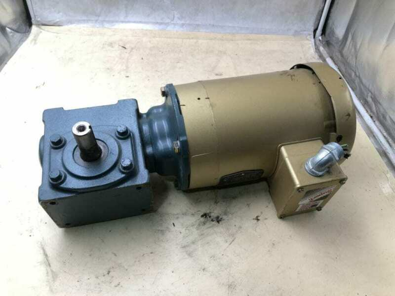 Dodge Tigear 2 17Q25L56 0.5HP Right Angle Gear Drive/Speed Reducer 25:1 3PH
