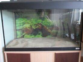 Aquarium 810 L, 360 W, 500 H, with cabinet 1220 H complete set up equipemnt