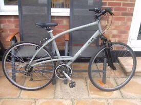 "21""Frame Btwin Decathlon Triban 3 Hybrid Road City Bike Needs TLC 21 Gears"