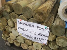 Round Wooden Posts For Sale. They Are Roughly 1200 Long & £3 Each.