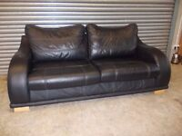 Luxury Black Leather 3-1-1 Suite (Sofa)
