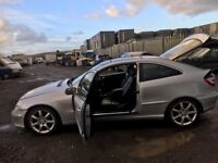 Mercedes Benz c220cdi coupe diesel 2005 year breaking spare parts available