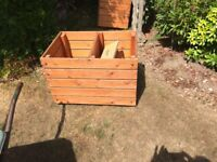 wooden wheeled storage boxes