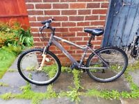 Mountain bike serviced, good working condition , suspension , MTB hardtail bicycle