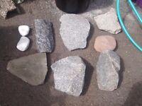 Aquarium granit and other stones