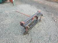 Tractor front loader bale spike euro 3 brackets