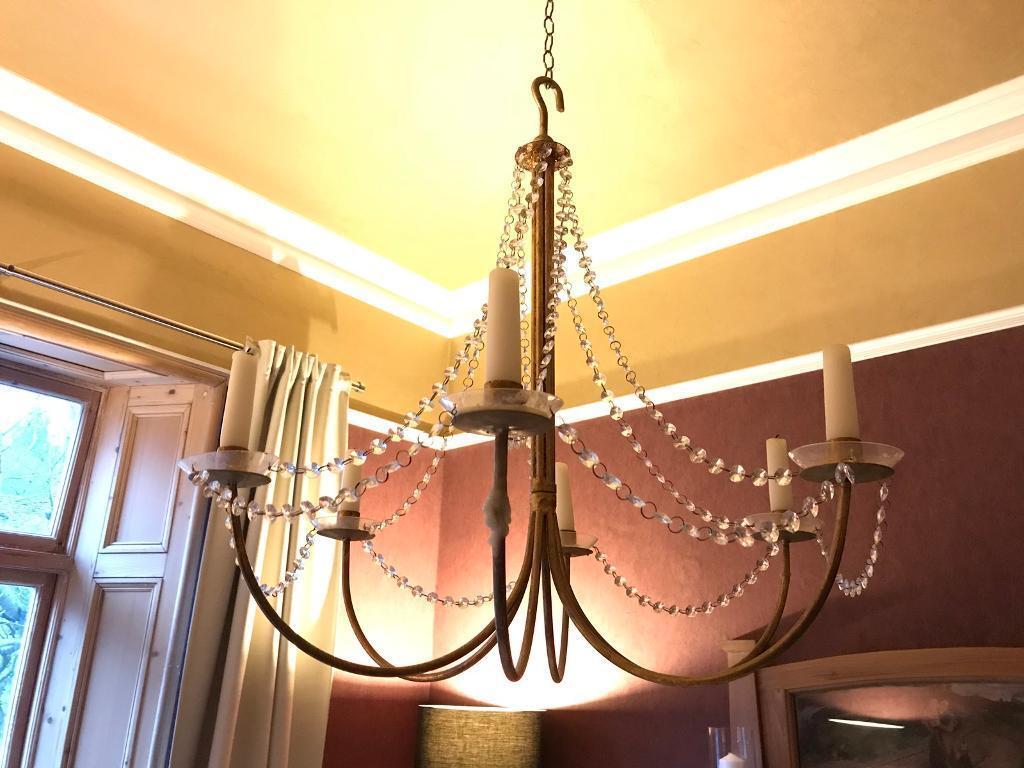 Antique gilt chandelier