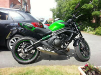 Kawasaki ER6N motorcycle £4650 OVNO Hardly used. Very economical and a great all rounder.
