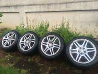 "MERCEDES BENZ C CLASS AMG 17"" ALLOYS WITH TYRES"