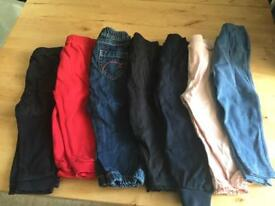 7 pair of pants baby girl