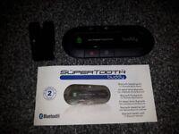SuperTooth Buddy Handsfree Bluetooth Visor Speakerphone Car Kit for Smartphone Devices - Black