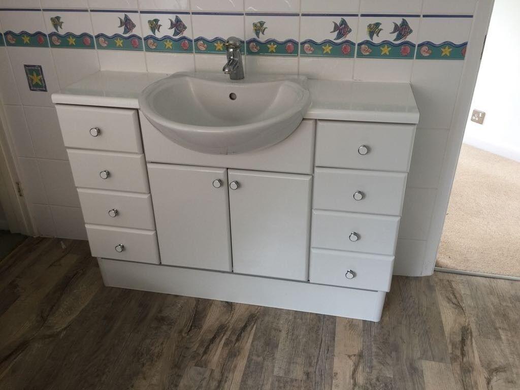 Bathroom fixtures cheap to good home - sink, corner bath, toilet ...