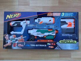 NERF Modulus Tri-Strike Blaster - brand new