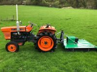 Kubota L1500 2WD Compact Tractor with New Topper Mower ** WATCH VIDEO**