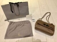 Mulberry Lily Bag - Beautiful Small Classic Grain in Taupe