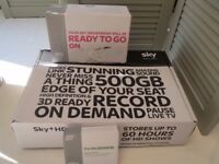 Sky HD box, Sky Router and on demand box.