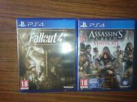 2 PS4 Games. Age 18. ASSASSINS CREED SYNDICATE & FALLOUT 4
