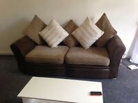 Brown sofas