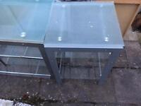 Glass tv unit and side table