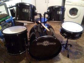 5 piece drum kit plus stool