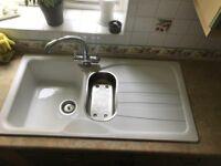 White FRANKE Sink