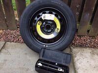 Skoda Yeti Space Saver Wheel and Tyre, including Jack. £85 ono