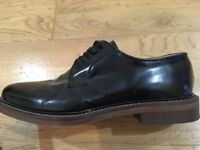 Walk London, high shine Darcy Derby men's shoes, size 9