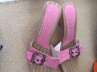 Pink ladies sandals