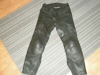 Mens motorcycle leather trousers 32/32