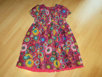 Beautiful Multicolour Corduroy Dress + Matching Top (Blue Turquoise) - Age 6/7 Year Old